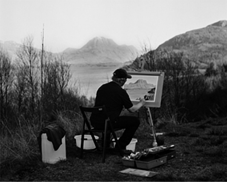 Painting at Loch Maree, 2007